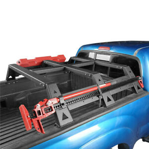 For Toyota Tacoma 2005 2021 Rear Bed Rack Top Luggage Carrier Textured Black