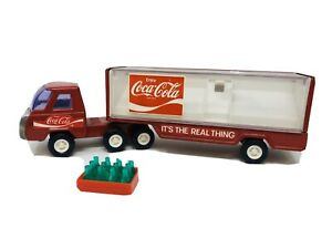 """Vintage Buddy L Coca Cola Semi Truck With Bottles & Hand Truck 10 1/2"""""""