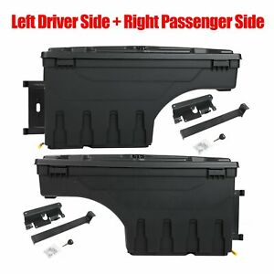2x Truck Bed Storage Box Toolbox Left Right For Chevy Silverado Gmc Sierra 1500