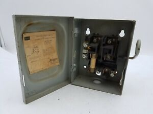 Vintage Sears 5121 Enclosed Safety Disconnect Switch 30a 3w 125 250v Service