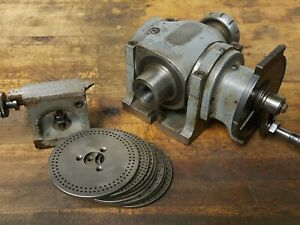 Hardinge Dividing Head 5c Collet With 9 Plates And Center