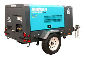 Air Compressor Airman 185 Cfm Yanmar T4f Diesel 5 Year Air End Warranty