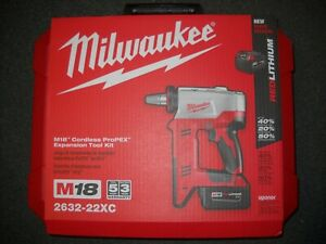 Milwaukee 2632 22xc M18 18 volt 3 8 To 1 1 2 In Expansion Tool Kit With 3 Heads