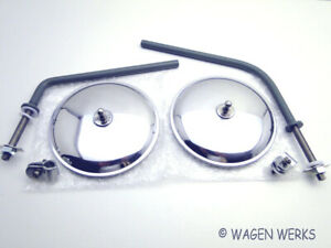 Vw Type 2 Mirror Set Round Type 2 1955 To 1967