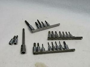 Snap On Hex And Triple Allen Key Socket Set Lot 3 8 Drive Metric Incomplete