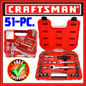 Craftsman 51 Pc Max Axess Pass Through Socket Mechanics Tool Set Case Sockets