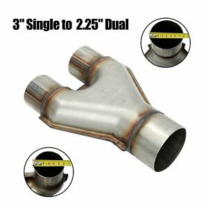 Exhaust Y Pipe 3 Single To 2 1 4 2 25 Dual Adapter Reducer Stainless Steel