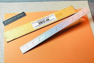 New Starrett No cb12 4r 12 Satin Chrome Blade Only For Combination Squares
