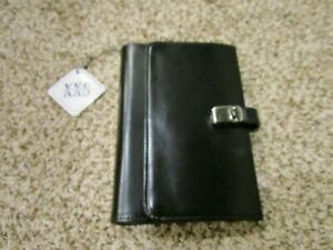 Xxs Accessories Compact Black Leather like Planner 6 ring Binder Wallet