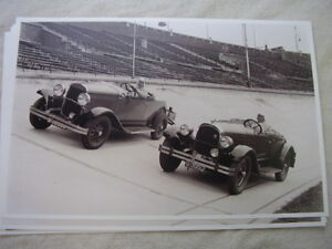 1928 An 1929 Chrysler Roadsters On Track 11 X 17 Photo Picture