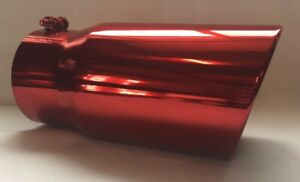 Transparent Chrome Red 4 Id X 6 Od X 12 Long Diesel Exhaust Tip