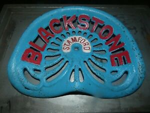 Blackstones Stamford Vintage Cast Iron Tractor Implement Seat Collectibles