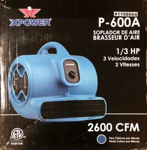 New Xpower P 600a 1 3 Hp Air Mover With Built in Power Outlets