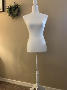Awesome Female Mannequin Torso Tripod Stand Woman Clothing Coat Display White