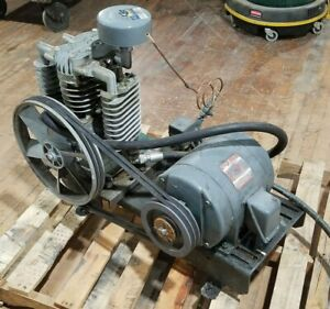 Imc Air Compressor No Tank Ge 5hp Induction Motor 208 220 460v 1750rpm Can Ship