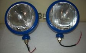 New Ford Tractor Headlights Set rh Lh 12 V Colours Blue Black Red