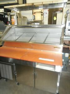 Used Traulsen Model Vps54j x0011 Sandwich Prep Table With Overshelf