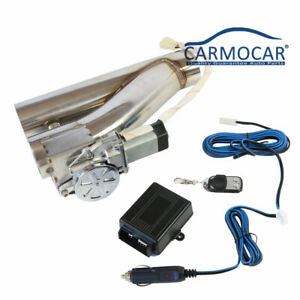New 2 5 Electric Exhaust Downpipe Cutout E Cut Out Valve Controller Remote Kit