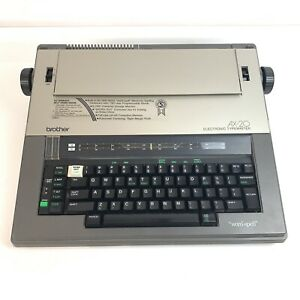 Brother Ax 20 Electric Typewriter Word Out Spell Checker W Covers And Ribbon