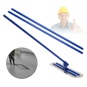 1200mm Concrete Bull Float Kit Stainless Steel Trowel Rotation Automatic Adjust