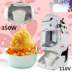 Commercial Electric Snow Cone Snow Machine Shaved Ice Machineice Crusher 350w