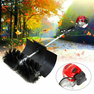 2 Stroke 52cc Gas Power Sweeper For Cleaning Snow Driveway Grass Lawn Garden