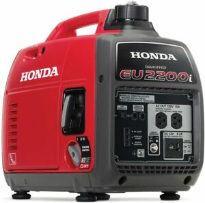 Honda 2200 w Super Quiet Portable Gas Powered Inverter Generator Home Rv Camping