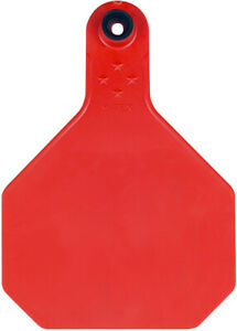 Y tex 4 Star Large Blank Cattle Tags 25 Count Red