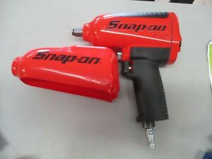 New Snap On Mg725 Heavy Duty 1 2 Drive Impact Wrench W Red Boot Metallic