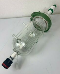 Complete Chemglass 1000 Ml Glass Reactor Jacketed Reaction Vessel Great