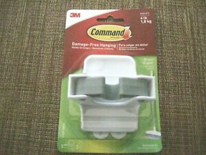 3m Command Broom Mop Gripper Hook Holder White Holds Up To 4 Lbs New
