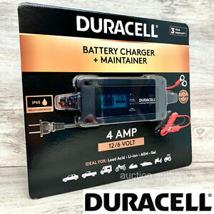 Duracell Battery Auto Car Charger Maintainer 4 Amp 12 6 Volt Ip65 Weatherproof