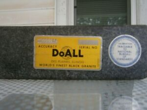 Doall Granite Surface Plate 6 X 6