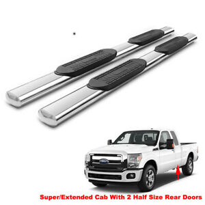 5 Running Boards For 99 16 F250 F350 F450 Super Duty Ext Cab Side Step Nerf Bar