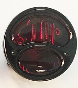 6 Volt 1928 31 Ford Model A R H Tail Light With Stop Lens Black