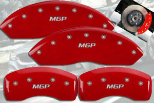 2017 Bmw 330i F30 Front Rear Red Engraved Mgp Brake Disc Caliper Covers 4pc