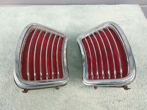 1966 Pontiac Lemans Tempest Tail Light Assemblies Oem Used Pair Lh Rh