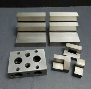 Stepped Angle Plate Moore Block Magnetic Toolmaker s Fixture Grinding Machinist