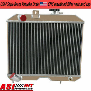 4 Row Aluminum Radiator For 1941 1952 Jeep Willys Mb cj 2a m38 Ford Gpw