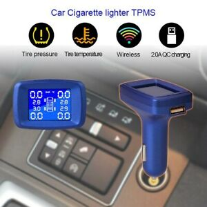 2 Lcd Display Tpms Wireless Car Truck Tire Pressure Monitoring System Universal