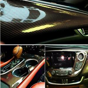 Black Gold 2d Carbon Fiber Vinyl Film For Whole Car Wrapping Sticker Decal