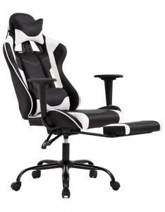 Ergonomic Office Chair Pc Gaming Chair Desk Chair Executive Pu Leather Comput