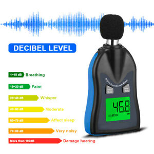 Lcd Reader Pressure Tester Sound Level Meter 30 130db Decibel Noise Measure New