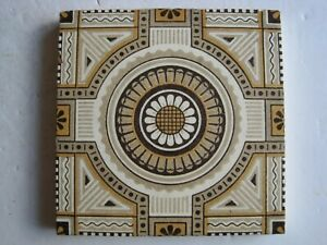 Antique Victorian Mintons Aesthetic Design Wall Tile C1885 Patt 1723