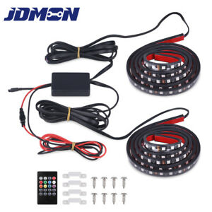 2x 60 Rgb Led Truck Bed Light Strip Waterproof For Cargo Boat Pickup Rv Suv