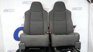 10 Ford F250 Super Duty Front Seat Set Pair Gray Cloth