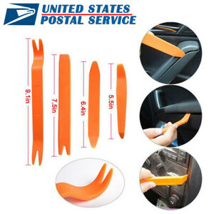 4pcs Plastic Car Panel Pry Tool Kit Door Body Clip Trim Removal Set For Bmw