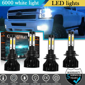For 1994 1998 Chevy C k Pickup Silverado Suburban Tahoe 9005 9006 Led Headlights