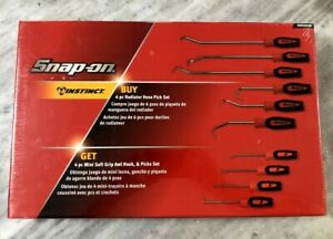 New Snap On Tools Red Radiator Hose Pick With Mini Soft Grip Awl Hook Pick Set