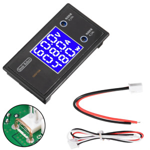 Digital Voltmeter Ammeter Dc 100v 10a Volt Meter Voltage Current Wattage Panel